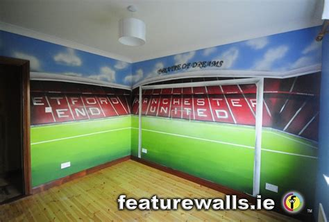 manchester united wall murals painted manchester united trafford room