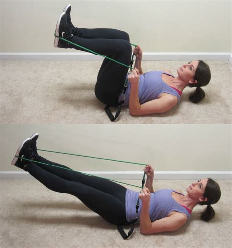 living room resistance band workout in