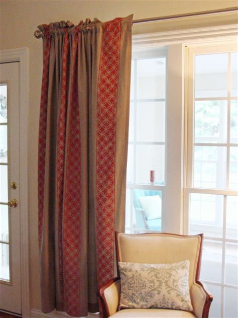 stenciled curtains diy custom window treatments painted and stenciled curtains
