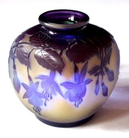 Galle Vase Art Nouveau Glass Dealer In London Galle And Daum Glass