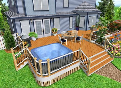 design a patio hot tub deck design ideas