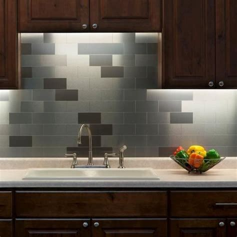 Peel And Stick Backsplashes For Kitchens Backsplash Ideas Stainless Steel Tiles And Stainless