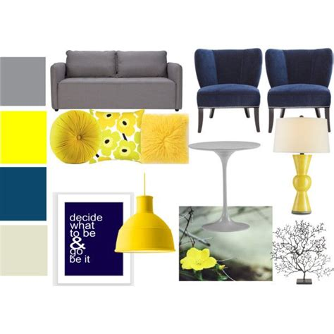 yellow living room set quot navy gray and yellow living room set quot by bekahjoy813 on polyvore home decor
