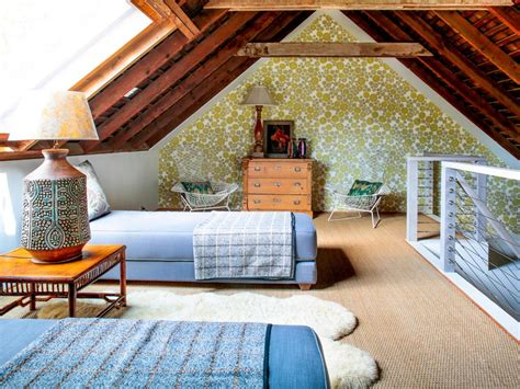 rustic attic bedroom photos hgtv
