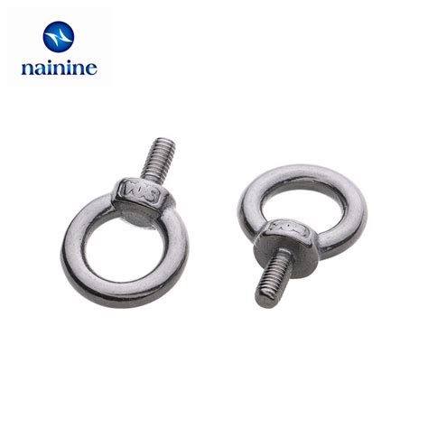 Jual U Bolt Stainless Steel Murah 087775544039 10pcs m3 m4 m5 m6 m8 din580 eye bolt 304 stainless steel