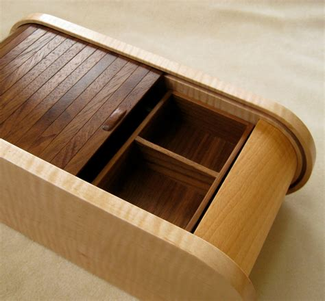 Wooden Jewelry Box Handmade - handmade curly maple black walnut wooden jewelry box