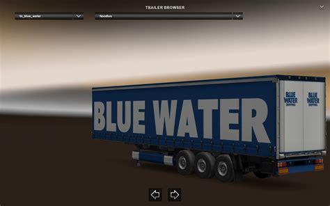 blue trailer blue water trailer v1 0 ets2 mods truck simulator