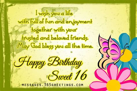 10 Birthday Greetings For Your Friends Sweet Sixteen by 16th Birthday Wishes Birthday Wishes Gifts And Sweet