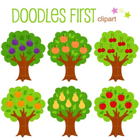 fruit tree clipart fruit bearing trees clip for scrapbooking card