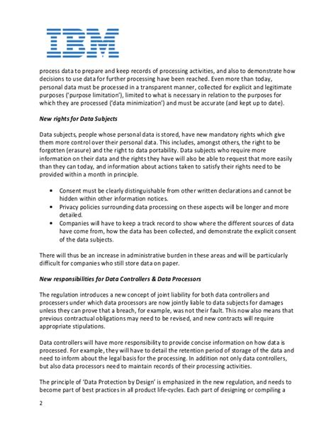 Data Retention Policy Template Gdpr How Ibm Supports Clients Around Gdpr And Cybersecurity Legislation