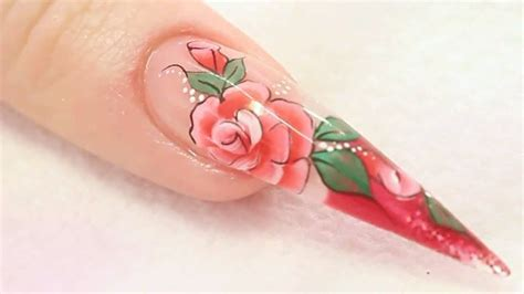 nail art tutorial naio nail art designs rose acrylic nail design tutorial video