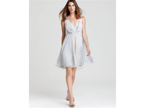 Cleeo Dress lyst max cleo dress lace and chiffon in gray
