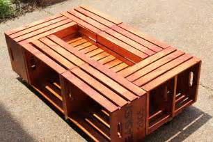 Diy Crate Coffee Table Diy Wooden Crate Coffee Table Woodworking Plans