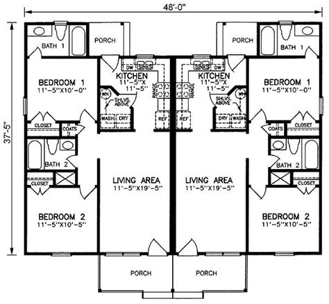 2 bedroom 2 bath duplex floor plans 25 best ideas about duplex plans on pinterest duplex