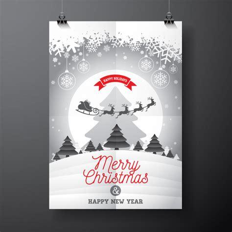 design xmas poster christmas poster design vector premium download