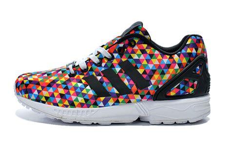 womens rainbow sneakers sneakers adidas originals zx flux womens rainbow