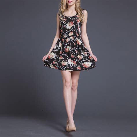 Dompet Flower Cf S 223 7 summer chiffon sundress flower slim tank mini dress 4 sizes ebay