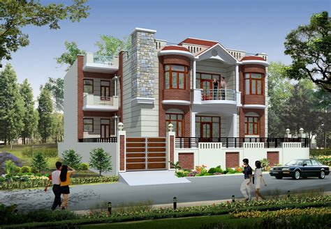 Home Designs Free India 3d House Front Elevation Indian House Designs Front View