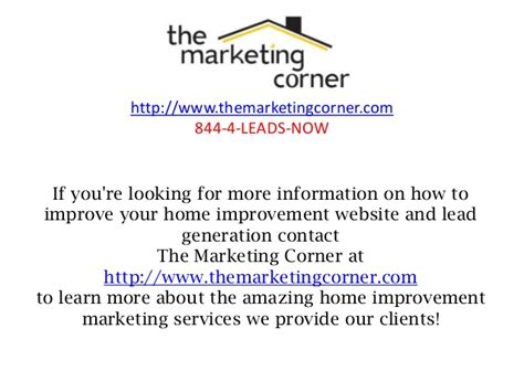 how to create the best home improvement website for leads