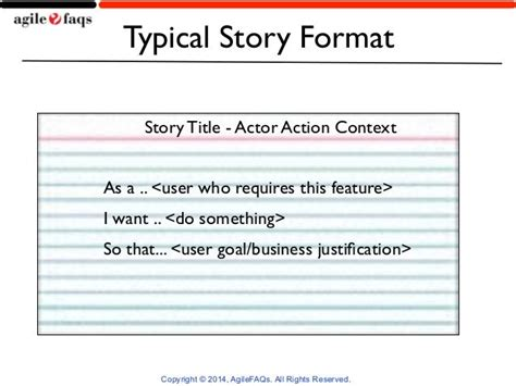 User Story Card Template Excel by Image Result For User Story Format Agile Pm