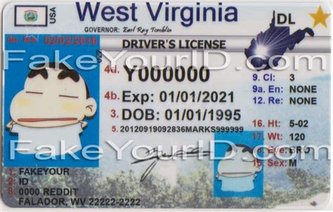 pennsylvania id card templat west virginia state id card replicated sles