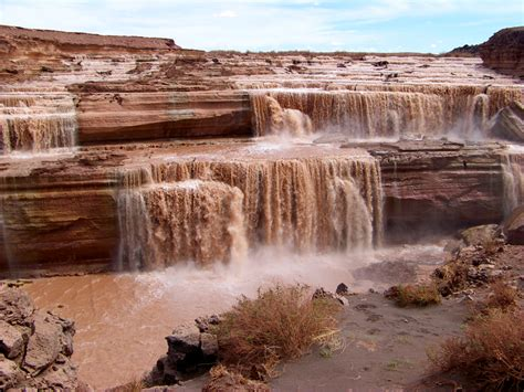 Grande Fall grand falls arizona s chocolate waterfalls
