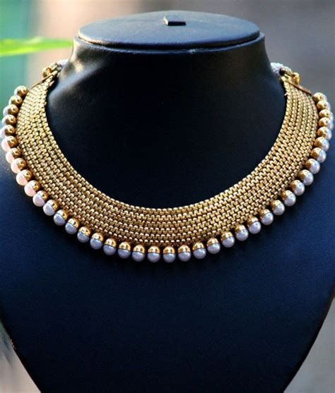 pearls with gold gold with pearl necklace designs for trendy