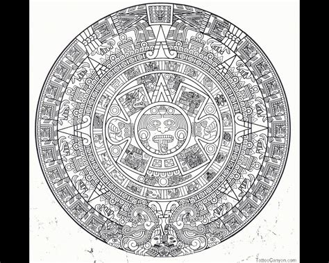 aztec calendar tattoo design aztec tattoos and designs page 48
