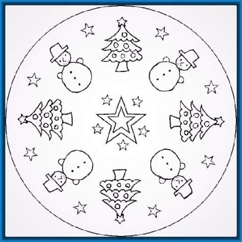 imagenes de ni os navidad para colorear im 225 genes de mandalas de navidad para colorear dibujos de