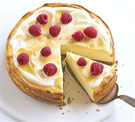 luscious lemon baked cheesecake recipe bbc good food