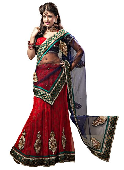 how to drape a lehenga choli red net flared lehenga choli with dupatta
