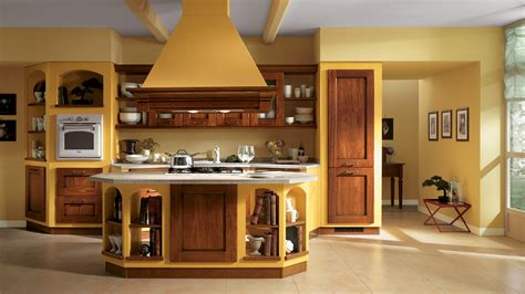 Decorating Ideas For Kitchen With Yellow Walls Cucine Classiche Scavolini Centro Mobili