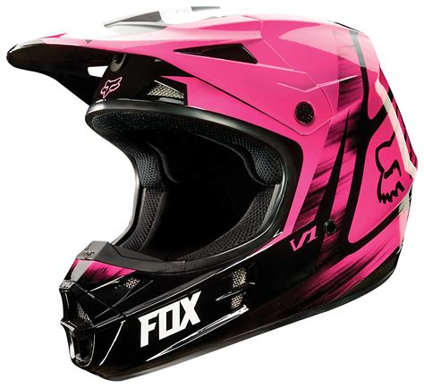 pink motocross gear fox racing v1 vandal women s helmet revzilla