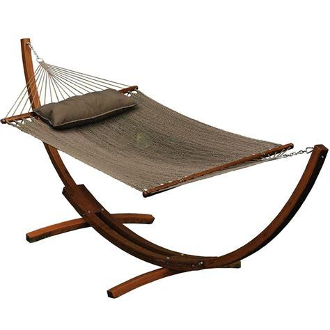Wooden Hammock Frame algoma 67104914sp wooden arc frame hammock pillow combo
