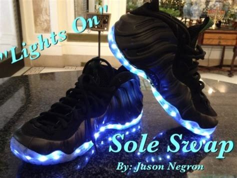 shoes that light up on the bottom nike light up nike air foosite custom shoes by sole