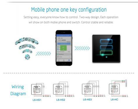 lanbon wifi module 3gang l touch switch smart