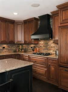 Stacked Stone Kitchen Backsplash Fantastic Stacked Stone Backsplash Idea Home Decor