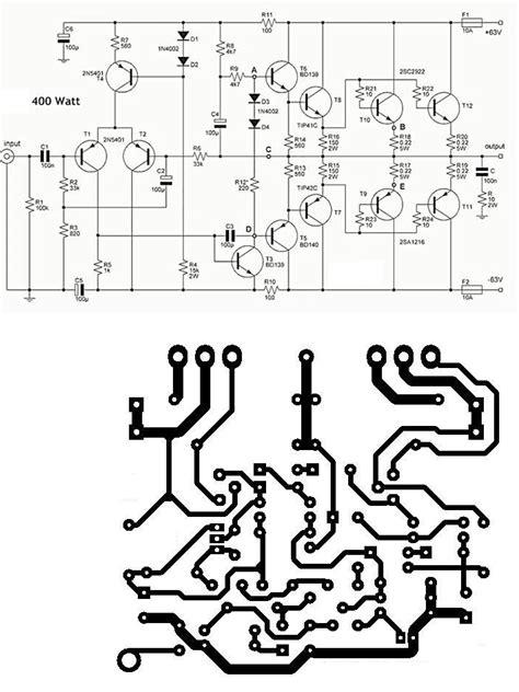 Pcb Power 400 Watt Pa 018b power lifier circuit diagram within power lifier sound system fiat500america