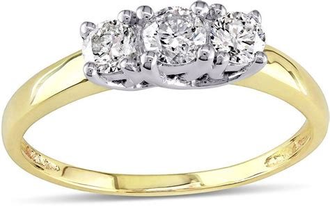jcpenney yellow gold three engagement ring meghan