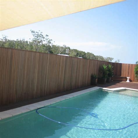 Landscape Timbers Around Pool Fence Coast Fencing Brisbane Pro Line