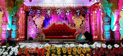 Wedding Stage Decoration @ Vel Sokkanathan Thirmana Nilayam, Puducherry « SIGARAM WEDDING DECORATORS