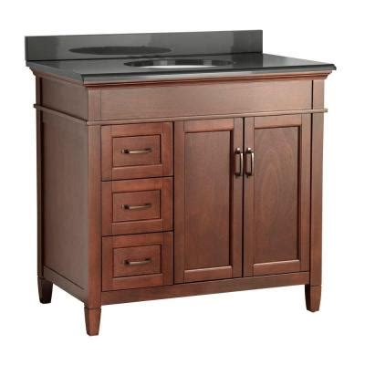 foremost ashburn 37 in w x 22 in d vanity in mahogany