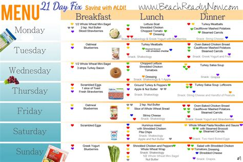 whole grain pasta 21 day fix 21 day fix aldi meal plan and shopping list