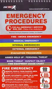 emergency procedures template nz emergency procedures flip chart state one