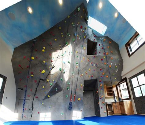 private home climbing wall  evergreen  eclectic