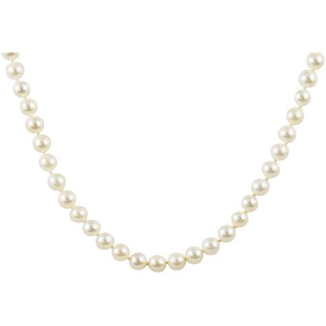 akoya white cultured pearl matinee necklace 14kt gold