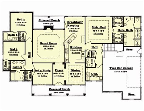 653452 country french 4 bedroom under 2000 square feet 249 best house plans images on pinterest cottage floor