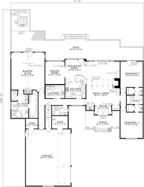 terrace country home plan 055d 0317 house plans