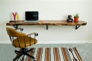 reclaimed live edge floating desk new home