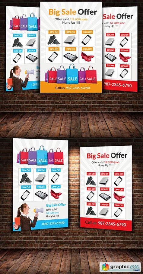 offer flyer template big sale offer flyer template 187 free vector stock image photoshop icon